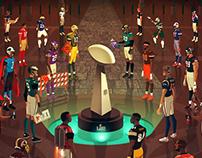 NFL 2018 Kickoff Illustration