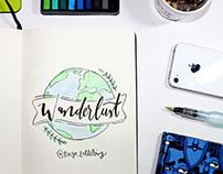 Wanderlust - Lettering