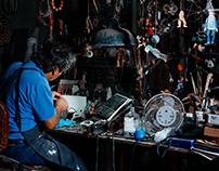 La magia se sucede en el taller de Rafael