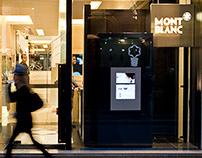 Montblanc Vetrina interattiva e evento