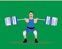 Weighlifting On Steroids Editorial Illustrations