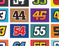 100 Racing Numbers