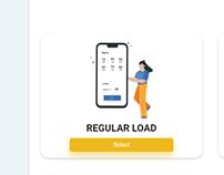 Buy Load Mobile UI