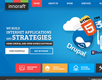Homepage for website & application development company
