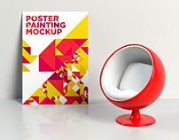 Poster Painting Interior Mockup