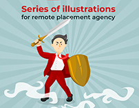 Illustrations for Distant Job company