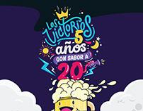 Los Victorios - 5 Años Con Sabor a 20 - CD Artwork