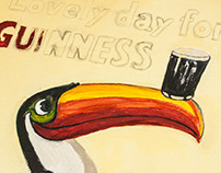 painted Guinness Toucan Poster