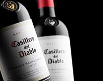 Bottle of wine photographed - Wine.com.br