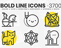 3700 Bold Line Icons