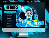 LANDING PAGE HEROES Oscar Ulloa Creativo