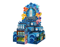 3D design Multiple Large Liquor Displays