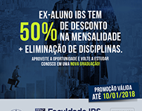 Campanha Vestibular 2018 / 50% Desconto Faculdade IBS