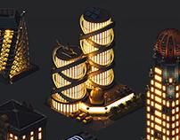 Isometric game graphics: City Island 4