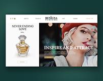 Website for perfume brand