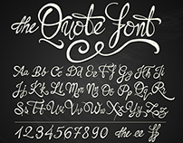 the QUOTE FONT