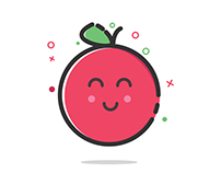 An adorable little apple illustration! (w/ Tutorial)