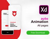 Swissfund App Adobe XD+Auto animation + XD DOWNLOAD