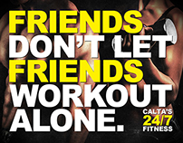 Caltas 24/7 Fitness | Die Cut Mailer & Referral Card