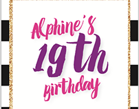 MY 19th Birthday Invitation Design