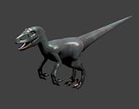 3D Modeled Velociraptor