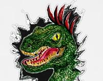 Portrait of the velociraptor