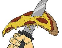 Pizza Warrior Stickers