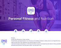 Online Fitness Coaching Thread design