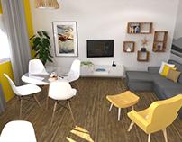 Proyecto de interiores de vivienda unifamiliar