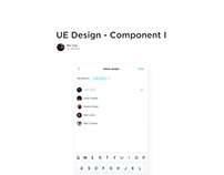 UE Design Analysis Multi people selector on Phone