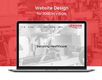 Jekson Vision Website Design
