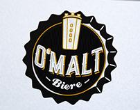 création logo bière blonde, graphiste loolye labat