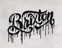 Brixton Melting Lettering