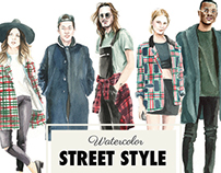 Watercolor Street Style 2015