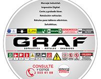 Mailling / volante para empresa de señaléticas - GRAF