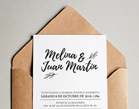 Invitación // M&JM