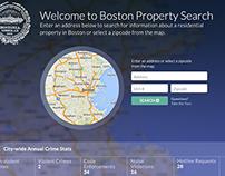 Qlarion City of Boston Property Search