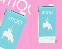 Milk MOO. Milk packaging design.