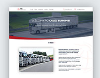 Website for a Transport Company