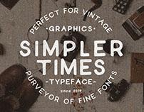 SIMPLER TIMES - FONT