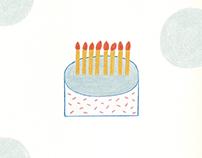 비 오는 날의 케이크