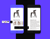 Furniture e-commerce ui kit
