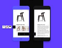 Furniture e-commerce ui kit