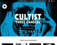 Tape Haus Records Website Design