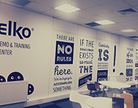 ELKO Romania Office Wall Design