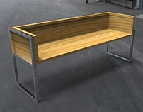 Wooden Garden Diamond Bench