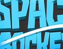 Space Rocket Game Logo