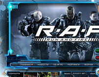 RAF. MMORTS. Website of the game.