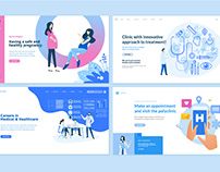 Medicine and healthcare web page design templates