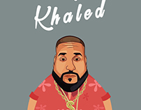 DJ Khaled Caricature Design
